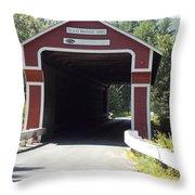 Slate Bridge Throw Pillow