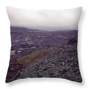 The Industrial Landscape Throw Pillow