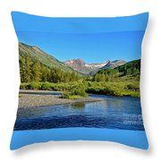 Slate River View Throw Pillow