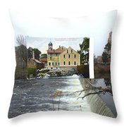 Slater Mill In Pawtucket Rhode Island Throw Pillow