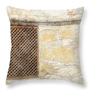 Slatted Window Throw Pillow