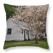 Slave Cabins At Magnolia Plantation - Summerville Sc Throw Pillow
