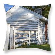 Slave Huts On Southern Farm Throw Pillow