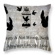 Slavery Throw Pillow