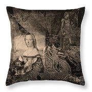 Slaying Dragons II Throw Pillow