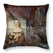 Slaying Dragons Throw Pillow