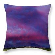 Slc Sunset Panorama Throw Pillow