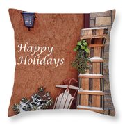 Sled And Tobbogan  Throw Pillow