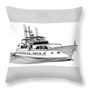 Sleek Motoryacht Throw Pillow