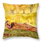 Sleep In A Hollow Log Throw Pillow