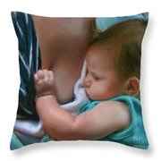 Sleeping Baby  Throw Pillow