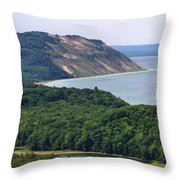 Sleeping Bear Dunes Overlook Throw Pillow