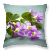 Sleeping Beauty Throw Pillow by Jan Bickerton