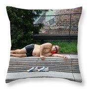 Sleeping Beauty On The High Line Throw Pillow