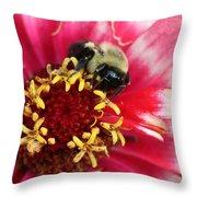 Sleeping Bumble Bee Throw Pillow