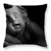 Sleeping Cherub #1bw Throw Pillow