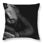 Sleeping Cherub #2bw Throw Pillow