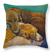Sleeping Double In A Single Bed Throw Pillow