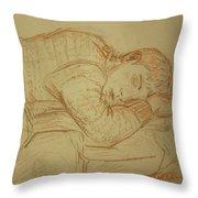 Sleeping Figure Throw Pillow