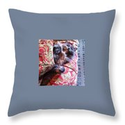 Sleeping In Today Throw Pillow