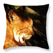 Sleeping Lynx  Throw Pillow