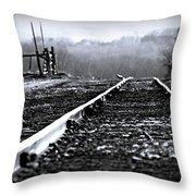 Sleeping On The Tracks Throw Pillow