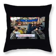 Sleeping Pirate Throw Pillow