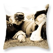Sleeping Soldiers Throw Pillow