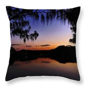 Sleeping Sun Throw Pillow by Kaye Menner