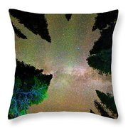 Sleeping Under The  Milky Way Stars Throw Pillow