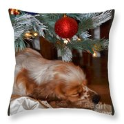 Sleeping Under The Tree II Throw Pillow