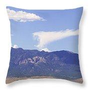 Sleeping Ute Panorama Throw Pillow