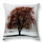 Sleeping Willow Throw Pillow