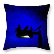 Sleepless At Midnight Throw Pillow