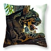 Sleepy Girl Paint Version Throw Pillow