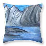 Sleepy Mountain Throw Pillow