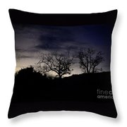 Sleepy Silhouette  Throw Pillow