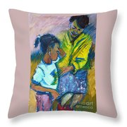 Sleepy Tears				 Throw Pillow