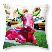 Cow Parade N Y C 2000 - Sleepy Time Cow Throw Pillow