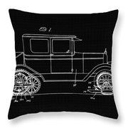 Sleigh Attachment For Motor Vehicles Support Patent Drawing From 1926 2 Throw Pillow