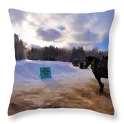 Sleigh Rides Throw Pillow