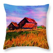 Slendor In The Grass Throw Pillow