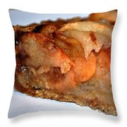 Slice Of Apple Tart Throw Pillow