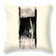 Slice Of Life Mud Oven Chulha Tandoor Indian Village Rajasthani 1e Throw Pillow