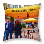 Slice Of Life Nyc-herald Square Throw Pillow