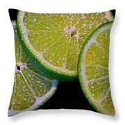 Sliced Limes Throw Pillow