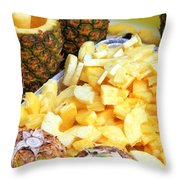 Sliced Pineapple Throw Pillow