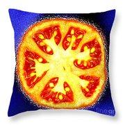 Sliced Tomato Throw Pillow