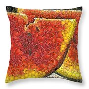 Slices Of Watermelon Throw Pillow