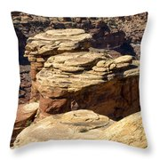 Slickrock Canyon Formations Throw Pillow